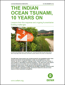 [긴급구호] 인도양 쓰나미 10년:  쓰나미 긴급구호의 교훈과 도전