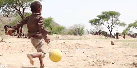 러시아 월드컵 x 난민 아이들 축구영상