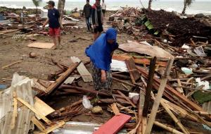 12월 22일 인도네시아 순다 해협 쓰나미 발생