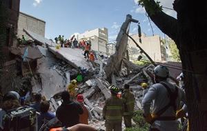 멕시코 대지진 긴급구호